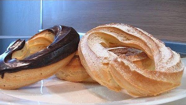 Пирожное заварное кольцо — Кулинарные видео рецепты