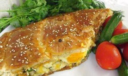 пирог из хрущёвского теста три сыра 20