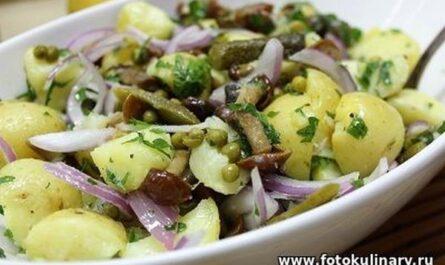 Деревенский картофельный салат 8