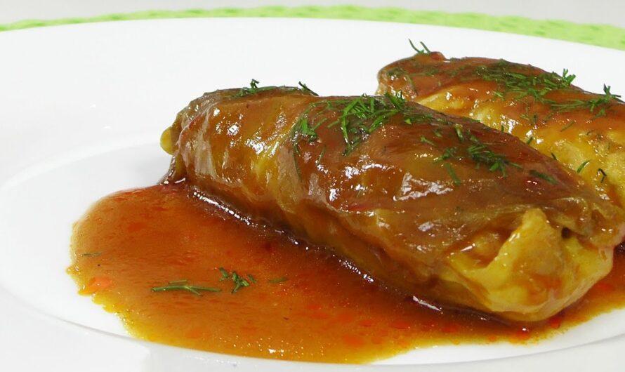 Голубцы с курицей в томатном соусе — Кулинарные видео рецепты