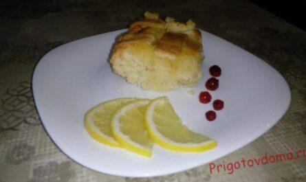 Лимонный пирог на Крещение «На удачу»